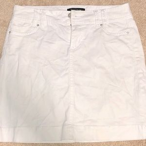 WHBM White Denim Skirt